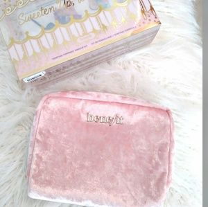 Benefit Pink Velour Cosmetics Pouch